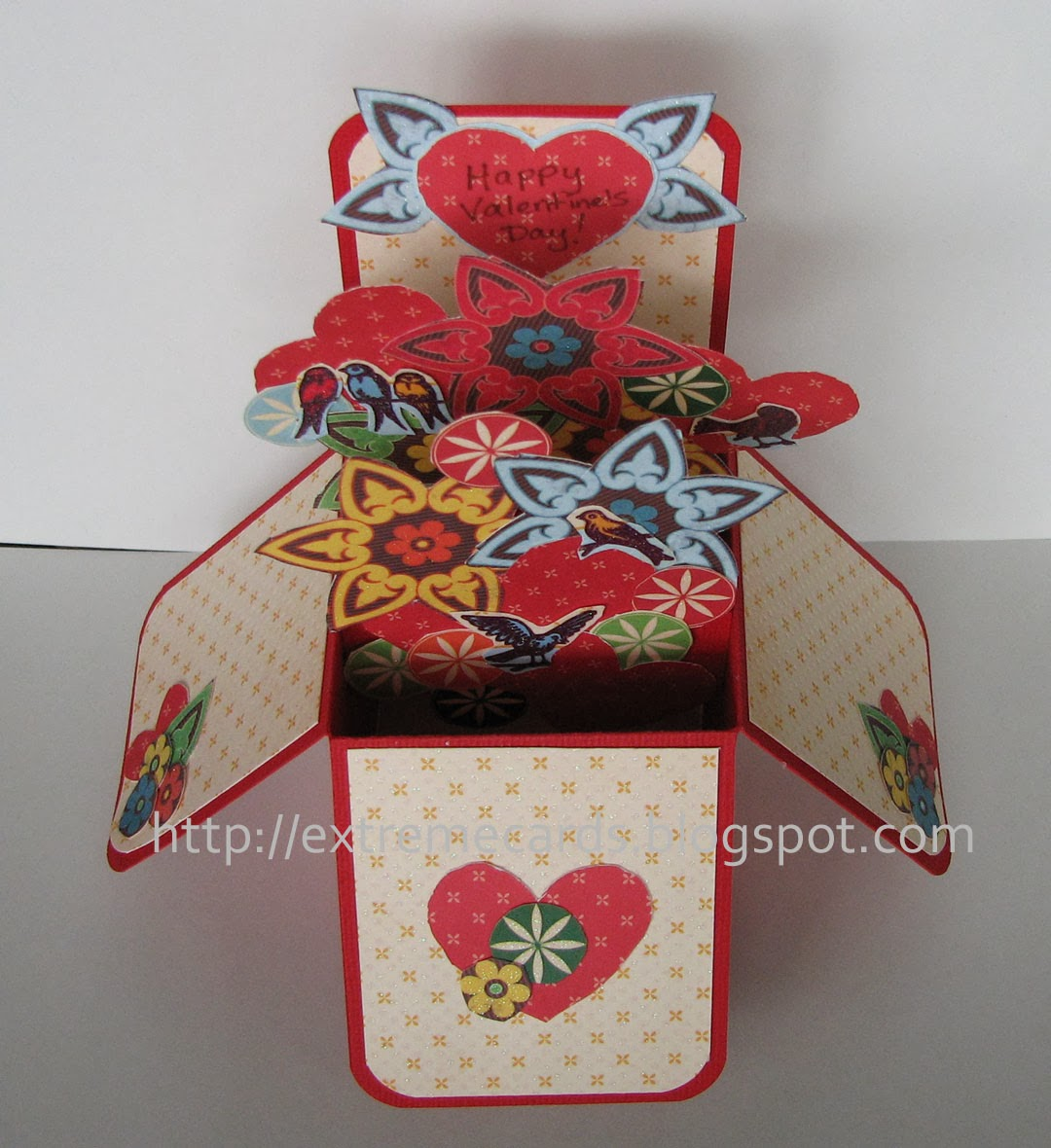 Extreme Cards and Papercrafting Card in a Box Valentine Pop Up