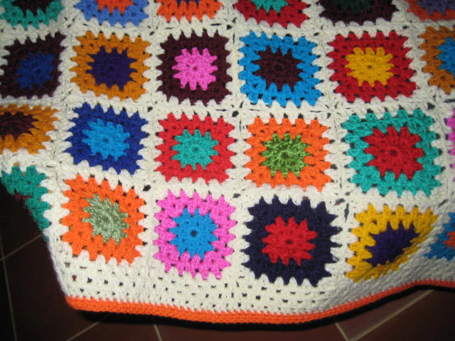 Crochet Patterns Knee Rugs : This is for DD, she loves bright, and orange is her favourite colour ...