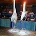 Refletindo à luz de velas