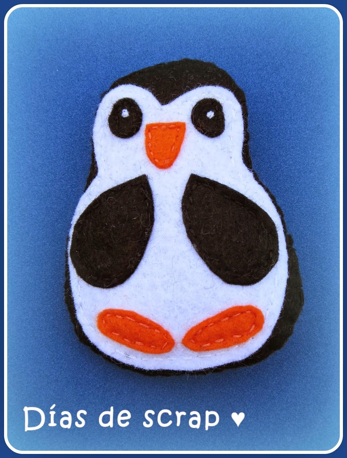 fieltro pingüino DIY