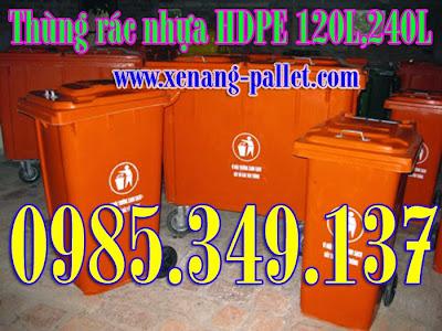 Bán rẻ Thùng rác 240 lít, thùng rác công cộng 240 lít, thùng rác 120 lít
