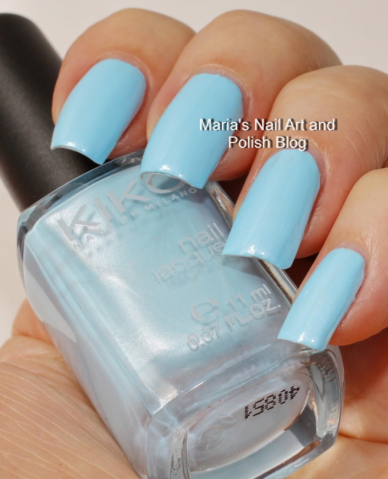 Marias Nail Art and Polish Blog: Kiko 525 Metallic Pastel Blue 277 ...