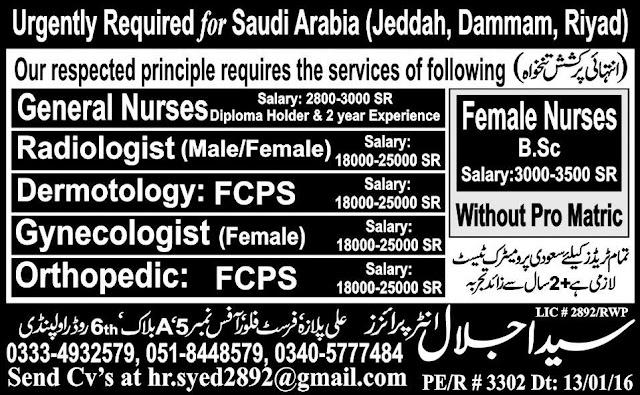 Doctors and Nurses Jobs in Saudi Arabia