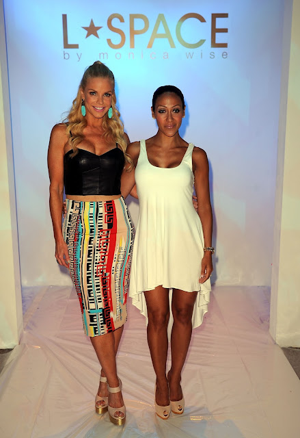 Alexia Echeverria & Melisa Gorga at L* Space at MBFWS 2014