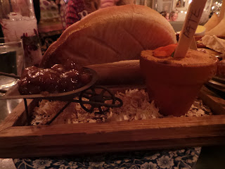 Pate and a wheelbarrow of chutney