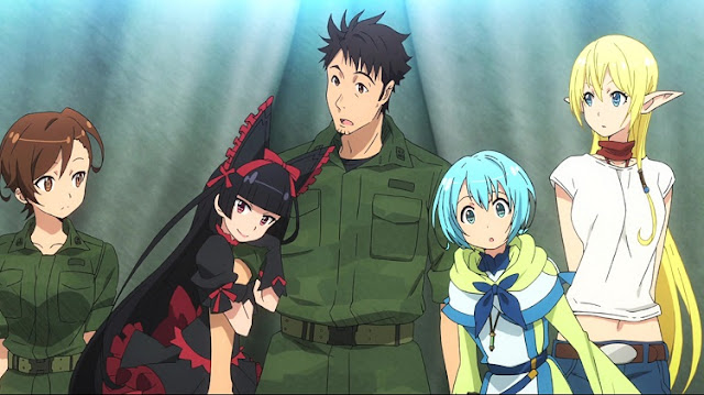 Gate Anime Image 1 Itami, Lelei, Tuka, Rory