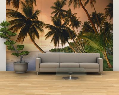 tropical mural wall