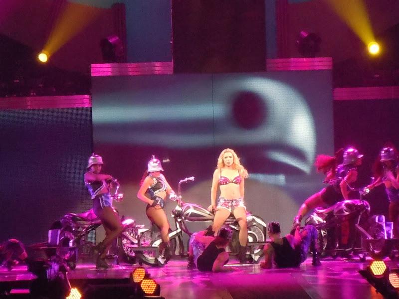 Britney Spears biker chick Femme Fatale show