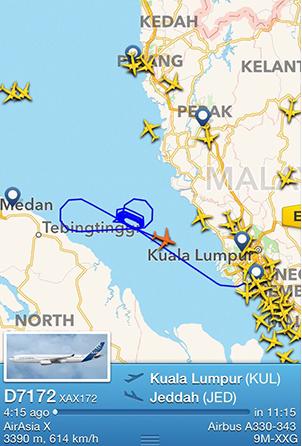 Pesawat AirAsia X D7172