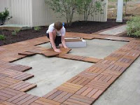 Modular Outdoor Patio Tile Installation