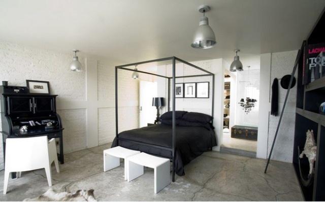 Desain Kamar Tidur Hitam Putih Desain Gambar Furniture Rumah