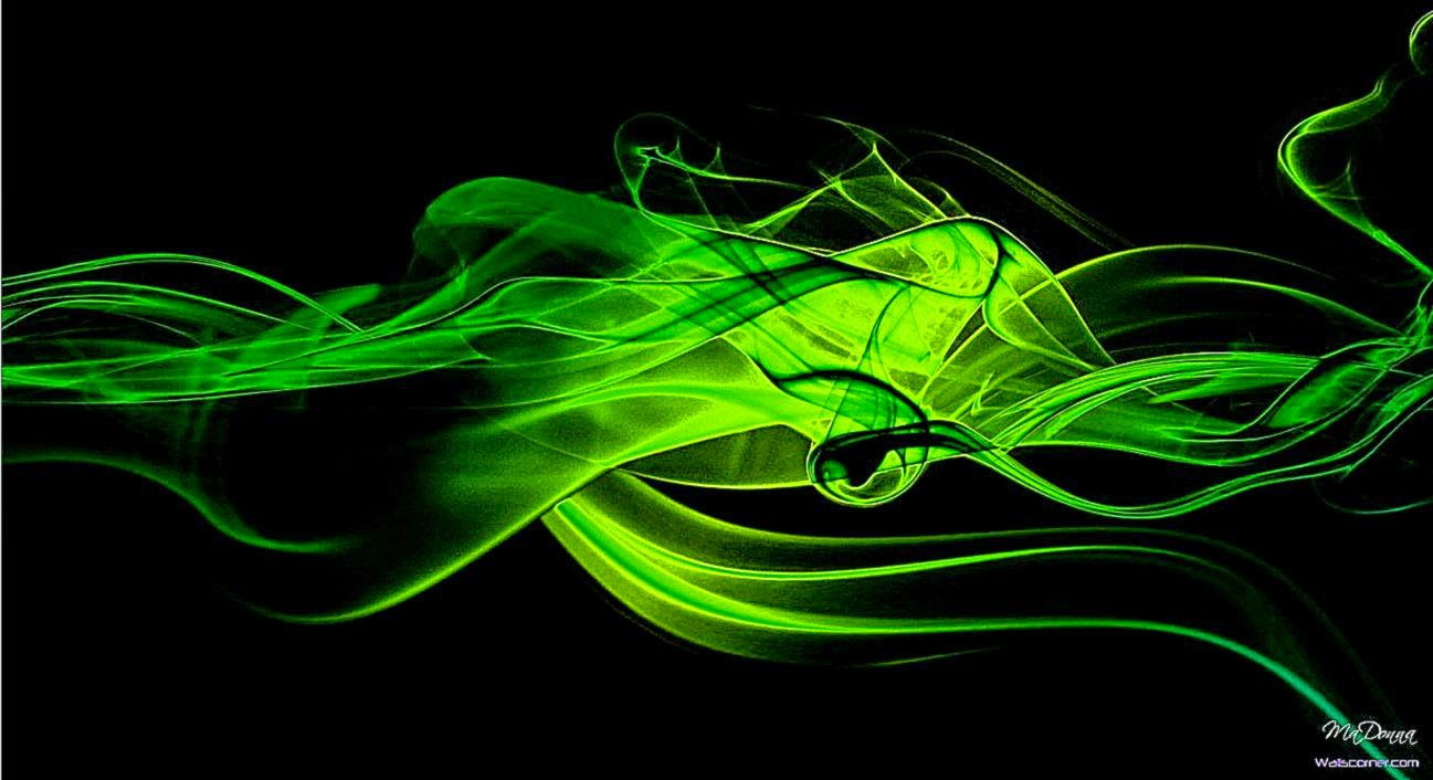 Black And Green Abstract Hd Wallpaper