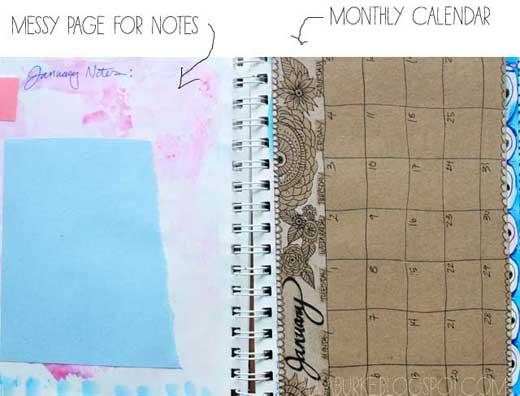 Agenda feita à mão by Alisa Burke