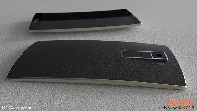 Màn hình cong nhẹ ấn tượng của LG G4 Docomo
