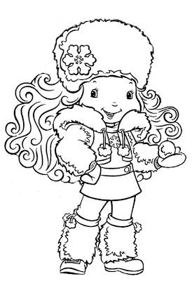 Desenho da Floquinho de Neve/ Turma da Moranguinho para Colorir