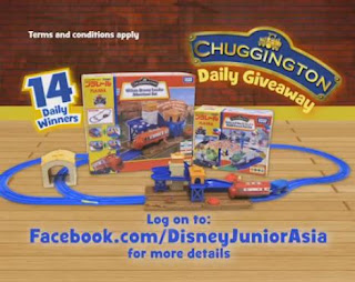 Chuggington train set, contest, Disney Asia contest, Disney  Junior Asia contest
