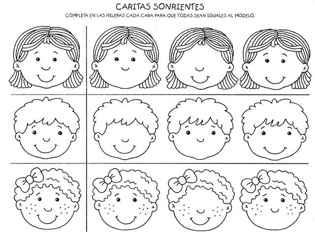 Caritas de emociones para colorear para niños - Imagui