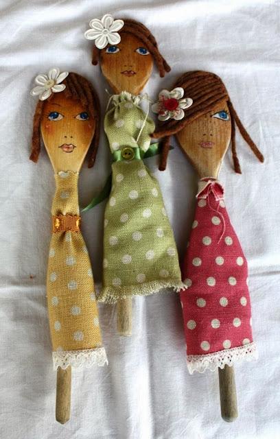 bonecas de colher de pau