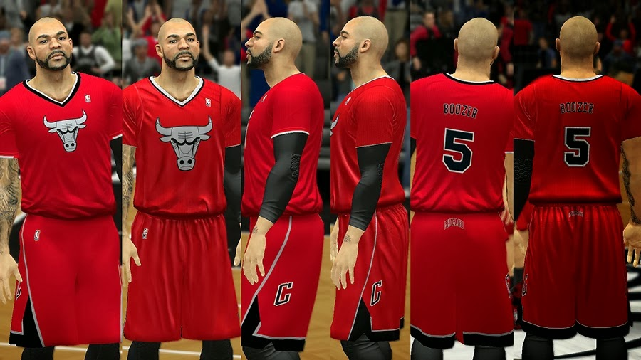 NBA 2K14 Christmas Day Uniform - Chicago Bulls