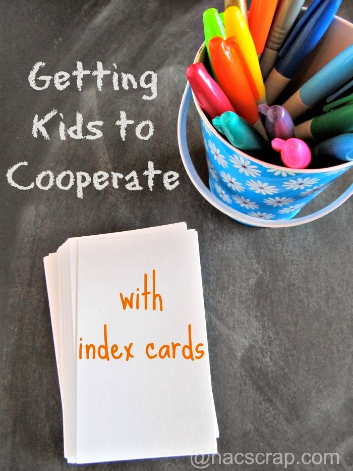Bucket of Sharpies and Index Cards Help Keep Kids on Track.