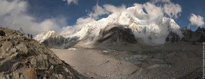 Путь к базовому лагерю Эвереста. Ледник, Нупцзе