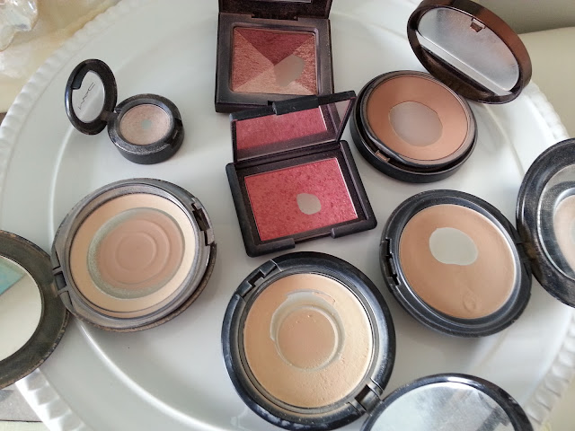 center: Nars Blush in Orgasm