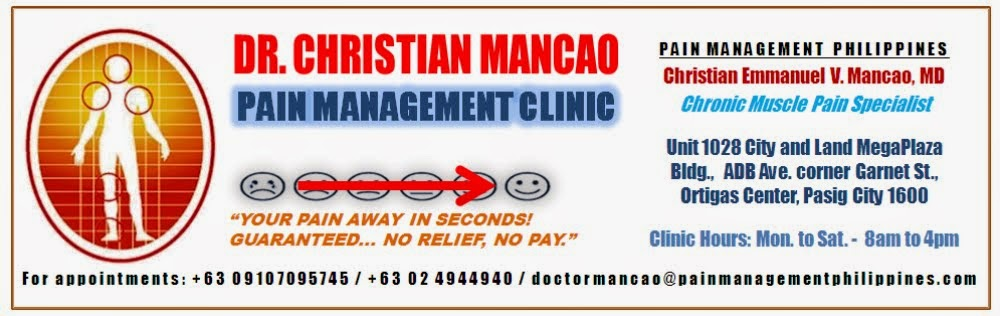 Welcome to Pain Management Philippines - Instant Relief of Chronic Muscle Pains with Dr. Mancao