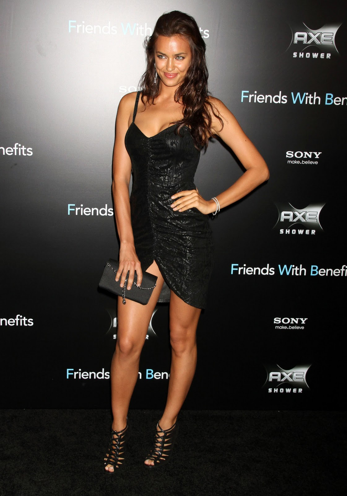 Black dress hairstyle - Irina Shayk Photoshoot In Black Dress 2012
