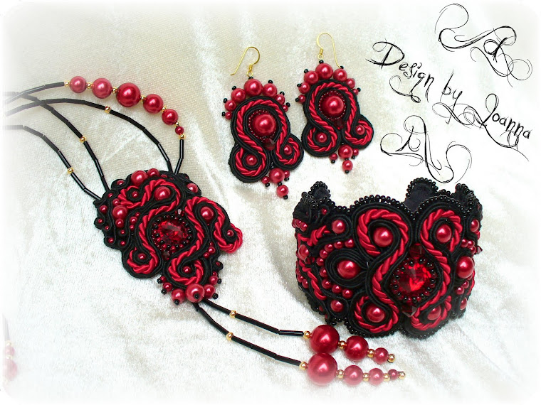 """Blood Lady"" Soutache / ""Krwista Dama"" sutasz."