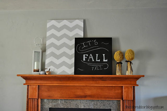 chalkboard on mantle