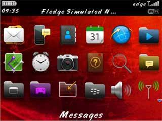 Tema Imlek di BlackBerry (menu)