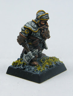Dwarf in Plate Mail - Side View