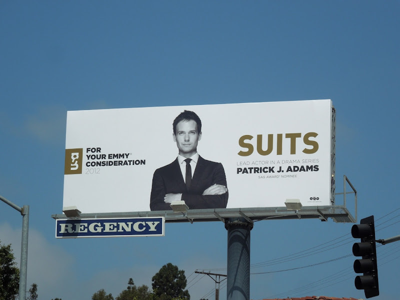Patrick J Adams Suits Emmy 2012 billboard