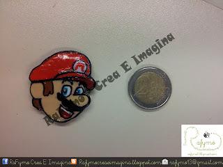 Imán Mario hecho con Fimo