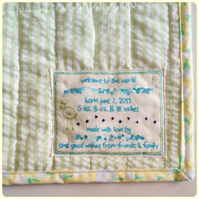 Embroidery Quilt Label Designs : swimming in brine: embroidered quilt label tutorial.