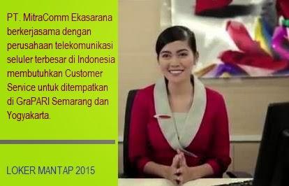 Lowongan Kerja Terbaru CS Telkomsel - PT Mitracomm Ekasarana Maret 2015