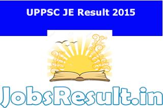 UPPSC JE Result 2015