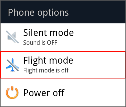 Airplane mode di android