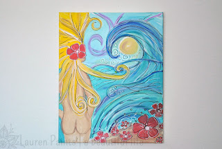 Lauren Harmon from Lauren Paints: Mermaid/Surfer Art from Florida
