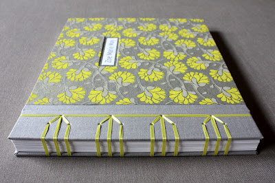 Japanese stab binding with ribbon
