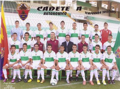 Plantilla del ELCHE CF, donde milita el joven futbolista bejarano, Alberto dorado