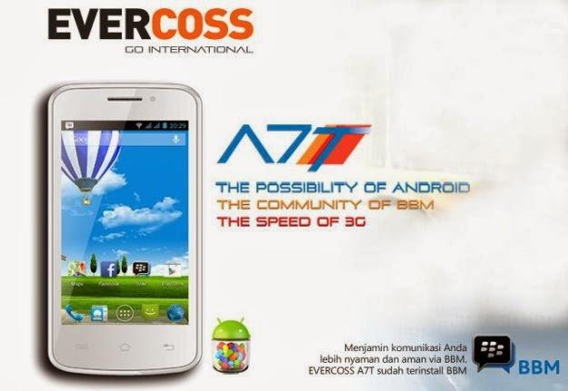 Evercoss A7T, HP Android Murah Bisa BBM Cuma 700 Ribuan
