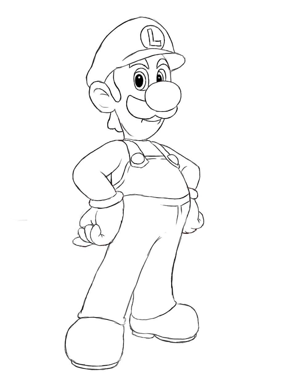 How To Draw Luigi Draw Central