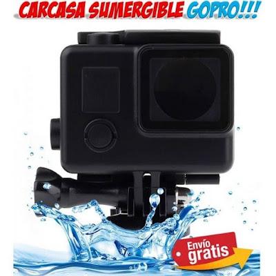 carcasa sumergible para GoPro Hero