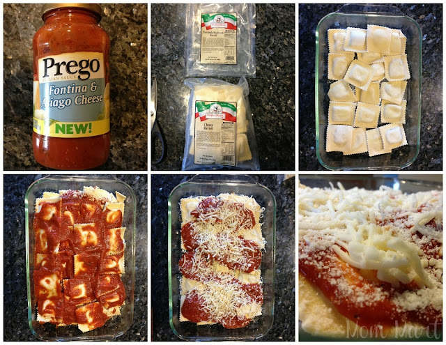 Easy Baked Ravioli Recipe and picture tutorial #Recipe #EasyDinnerDish #Ravioli