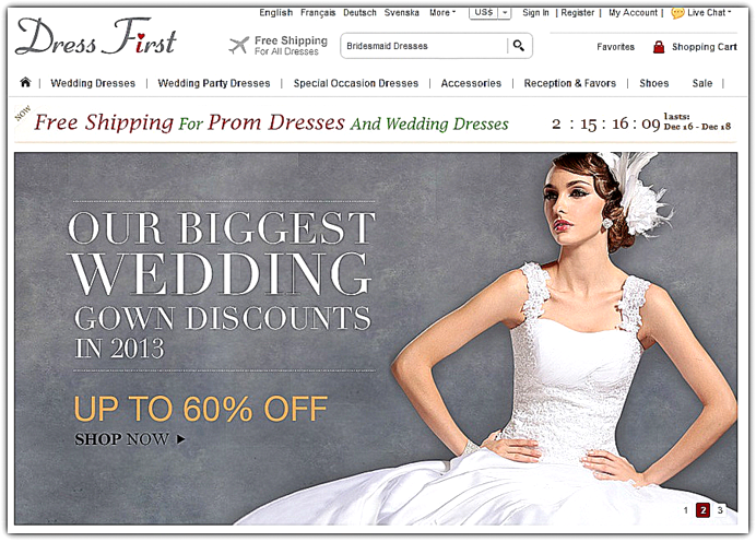 Wedding Dress and Wedding Gowns at DressFirst.com - Online Website ...