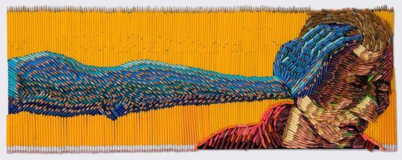 Federico Uribe pinturas feitas com lápis Tentando ajudar
