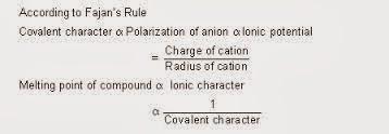 fajan's rule