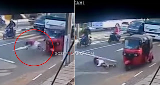 hirugossiplankadeepanewsfirstnethfmrivira - School girl injured in accident in Kelaniya - CCTV VIDEO