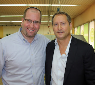 SodaStream's Daniel Birnbaum with Rabbi Jason Miller
